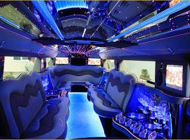 The charming interior of a limousine (in Kiev, Ukraine)