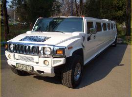 White hummer limousine in Kyiv
