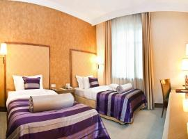 Accommodation in twin rooms of high-class hotel on Kyiv