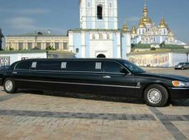 Stretched Lincoln Limousine on St. Sophia sq. in Kiev