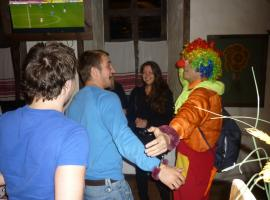 Man handcuffed to a clown at his stag do