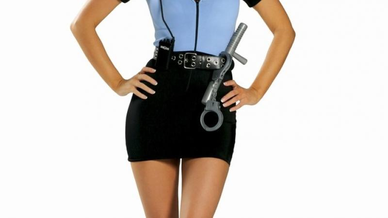 Stripper as a police woman